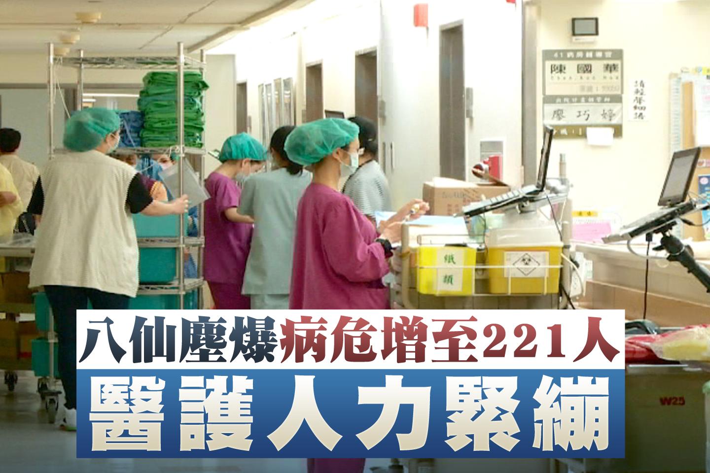 八仙塵爆病危增至221人 醫護人力緊繃
