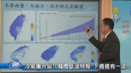 冷氣團升級10縣市低溫特報 下週還有一波