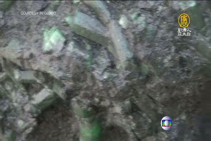 巴西礦區挖到寶 1公尺高巨祖母綠原石出土
