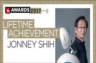 華碩施崇棠獲頒全球指標科技雜誌 T3終身成就獎。(華碩提供)