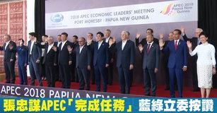 張忠謀APEC「完成任務」 藍綠立委按讚fb