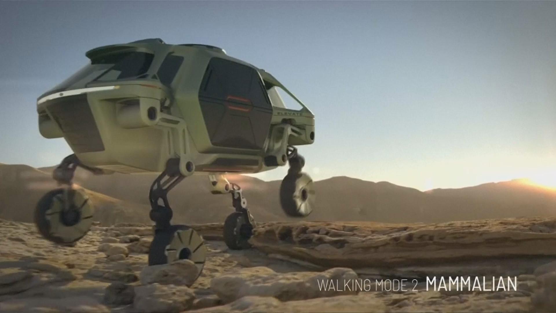 未來汽車「長腳」 走路攀爬難不倒它